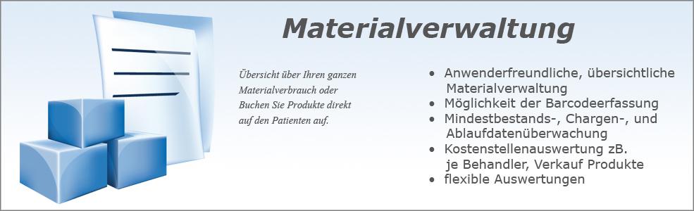 Softdent Physio - Materialverwaltung