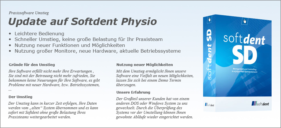 Softdent Physio - Umstieg Software